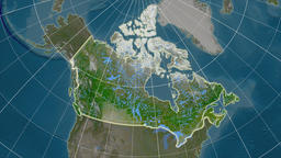 Canada and neighborhood. Satellite Animation