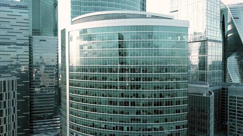 Reflective office skyscraper windows Footage