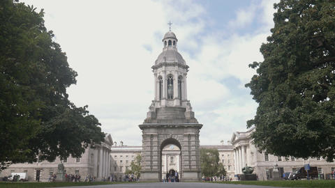 The Campanile of Dublin Trinity College Footage