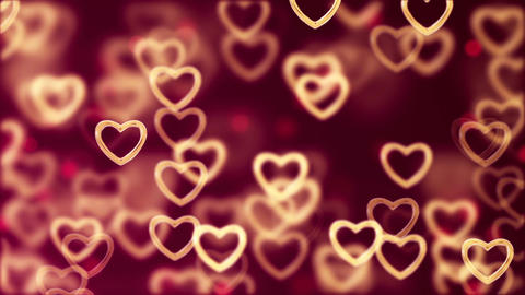 Abstract Loopable Background, flying hearts CG動画素材