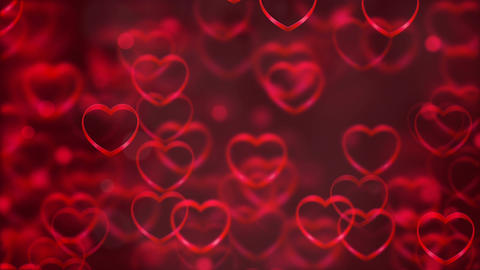 Abstract Loopable Background, flying hearts Animation