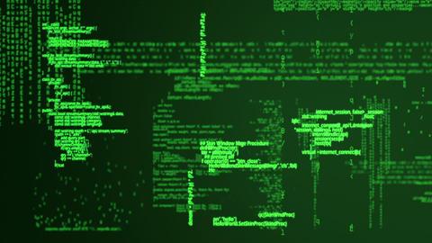 Digital animation of matrix Stock Video Footage