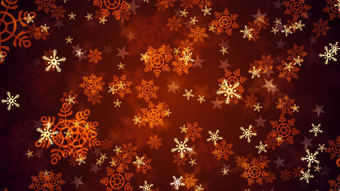 Red Christmas Snow Flakes Animation