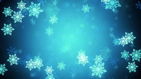 Bluish SnowFlakes tunnel Animation