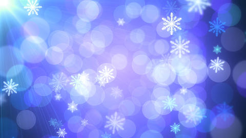 Blue Holiday Lights Snowflakes Animation