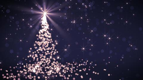 Purple Falling Lights Christmas tree Animation
