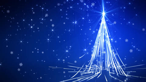 Blue Streaks Christmas Tree Animation