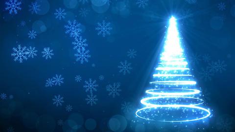 Blue Strokes Christmas Tree Animation
