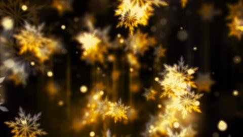 Golden Glassy Snowflakes Animation