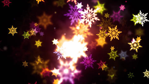Warm Colorful Snowflakes Animation