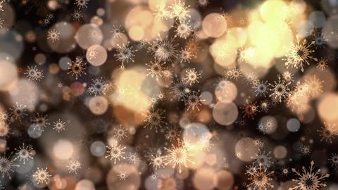 Warm Bokeh Snowflakes Animation