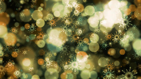 Golden Bokeh Snowflakes Animation