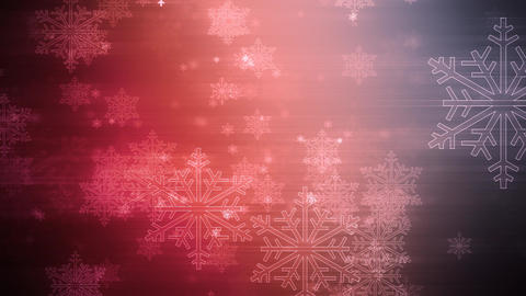 Christmas color Flakes Animation