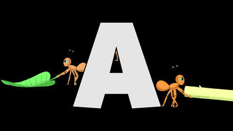 Letter A and Ant (background) Animation