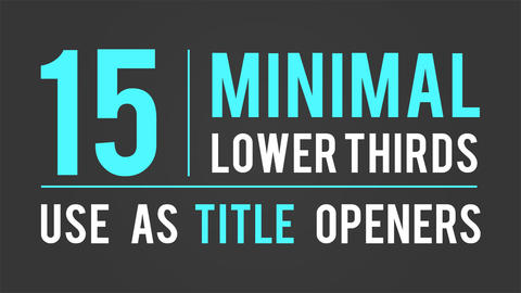 15 Minimal Lower Thirds and Titles After Effects Template