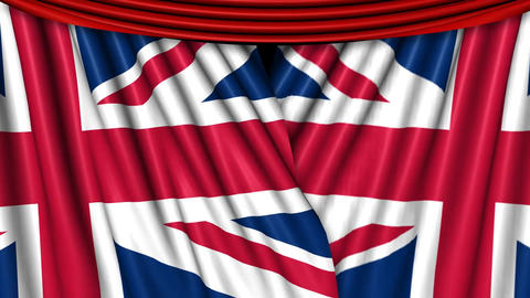 UK Flag Curtains Overlay Animation