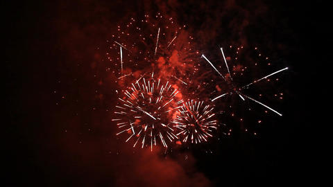 Fireworks in the night sky Footage