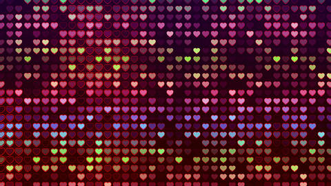 Abstract Loopable Background, flashing wall of hearts Animation