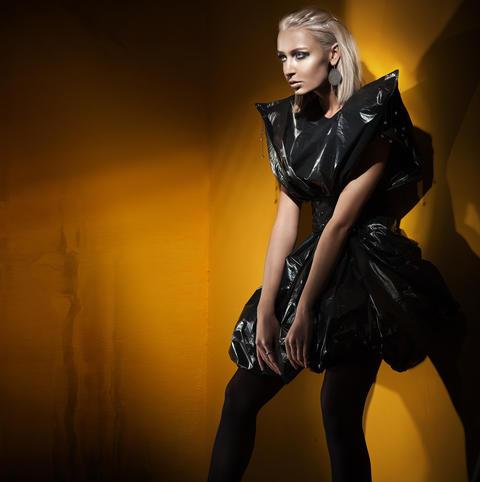 Fashion style shot of a stylish blonde Photo