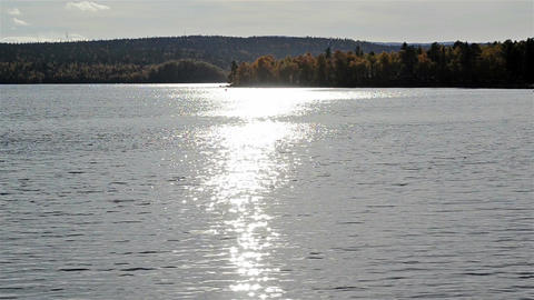 Glare of the sun on the water Footage