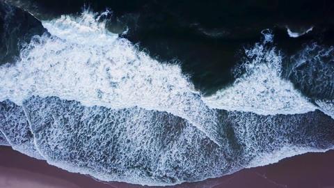 Ocean waves crashing on beach Footage