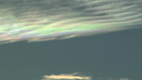 Colors reflecting on clouds in timelapse Footage