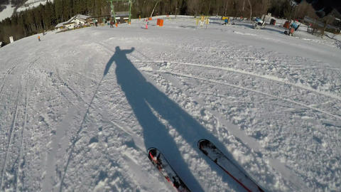 Carving skiing in the European Alps Footage