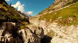 Majestic mountain landscape scenery peaceful nature background Footage