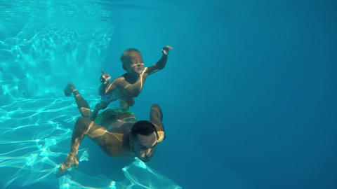 Underwater swimming Footage