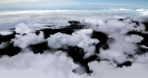 Blue 4k ABOVE CLOUDS 4096 x 2160 CG動画素材