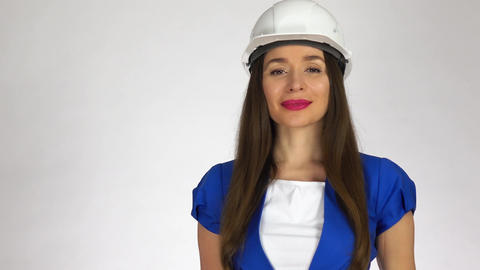 Portrait of smiling female construction engineer Stock Video Footage