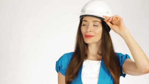 Portrait of smiling female construction engineer or architect Image
