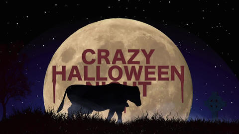 Halloween: Zombie and cow opener Plantilla de Apple Motion
