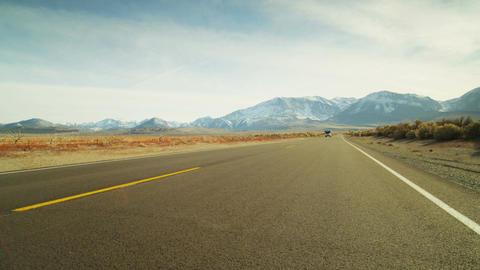 Road trip rv on desert road Footage