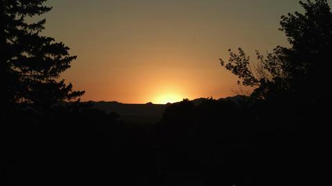 Salt lake city sunset Footage