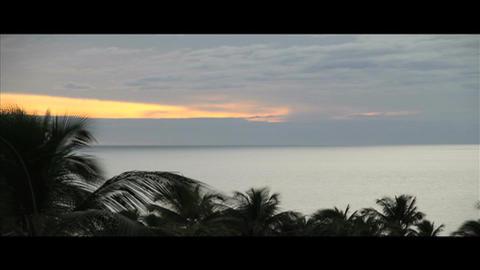 Timelapse hawaii sunset scene Footage