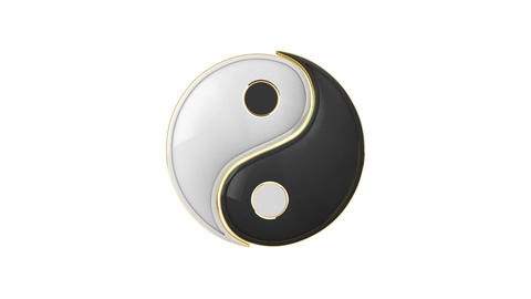 Connection. Yin Yang (the energy of life). Constant struggle of two opposites. Animation