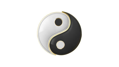 Connection. Yin Yang (the energy of life). Constant… Stock Video Footage