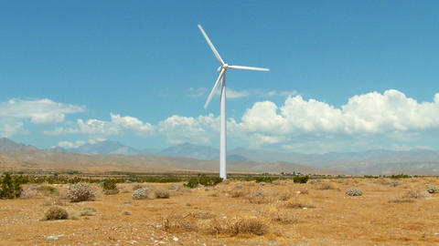 Windmill cloud and desert timelapse Footage