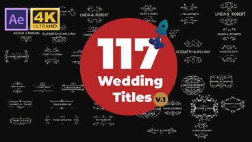117 Wedding Titles Pack After Effects Template