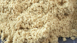Kinetic sand close-up. Kinetic sand heap for children Live Action