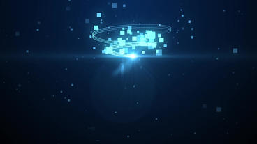 Light Streak Square Particles Logo After Effects Template
