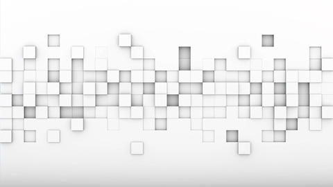 Chaotic extruded white cubes 3D render loopable animation Animation