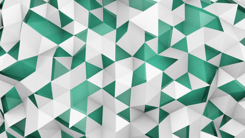 Double layered polygonal surface seamless loop 3D animation Animation