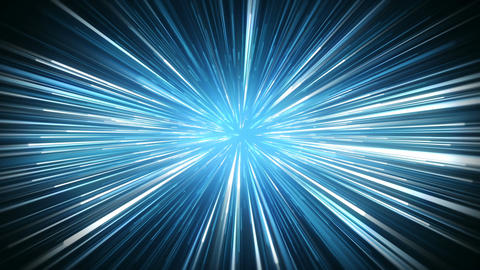 Radial blur blue rays abstract loopable motion background Animation