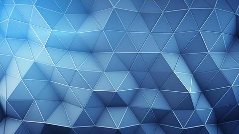 Polygonal techno blue surface seamless loop 3D animation Animation