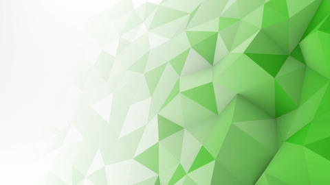 Green white gradient polygonal surface loopable 3D animation Animation
