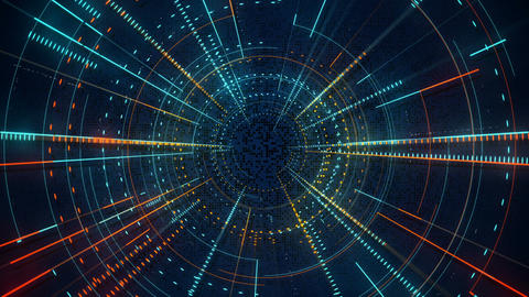 Radial lines techno pattern abstract loopable background Animation