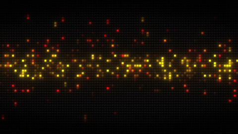 Glowing orange cubes on black tile loopable animation Animation