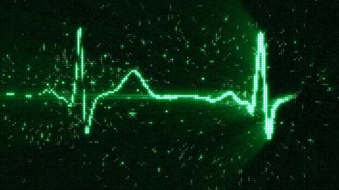 Green EKG electrocardiogram waveform on screen loop animation Animation
